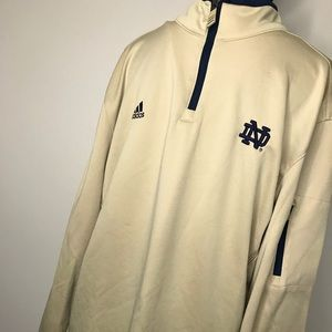 🔺Sold🔺 Adidas Notre Dame University Pull Over